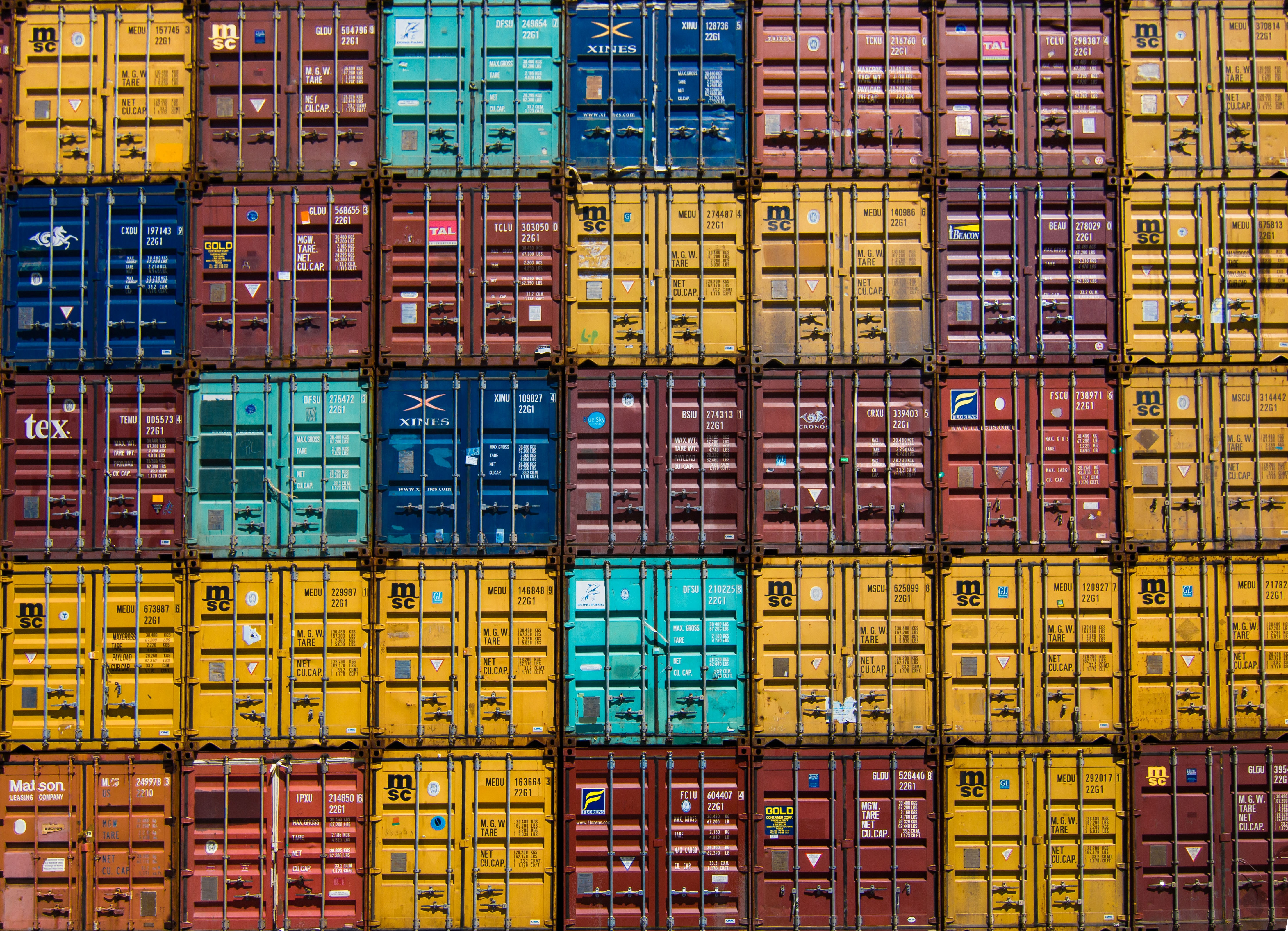 Efficiënt en schoon internationaal transport met een volle container